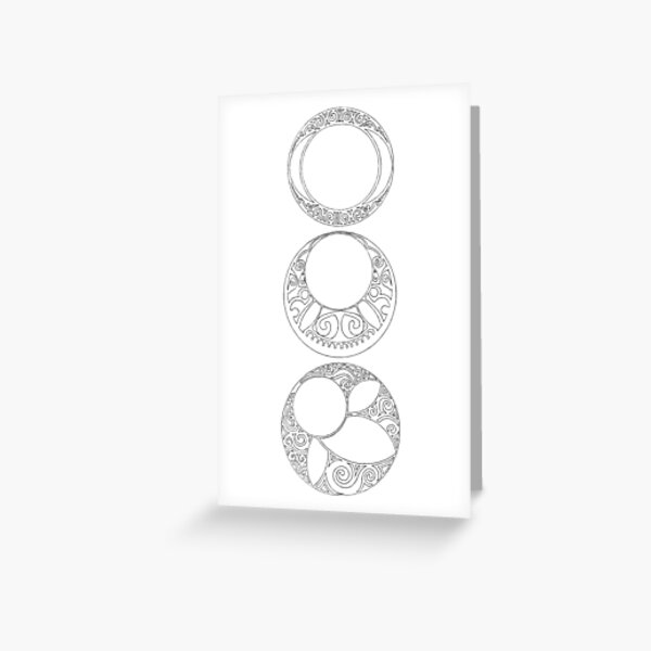 Rosaces Greeting Card