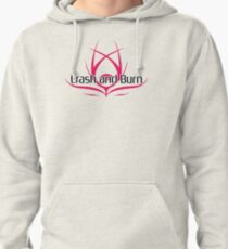 Crash and Burn Logo with Text Pullover Hoodie
