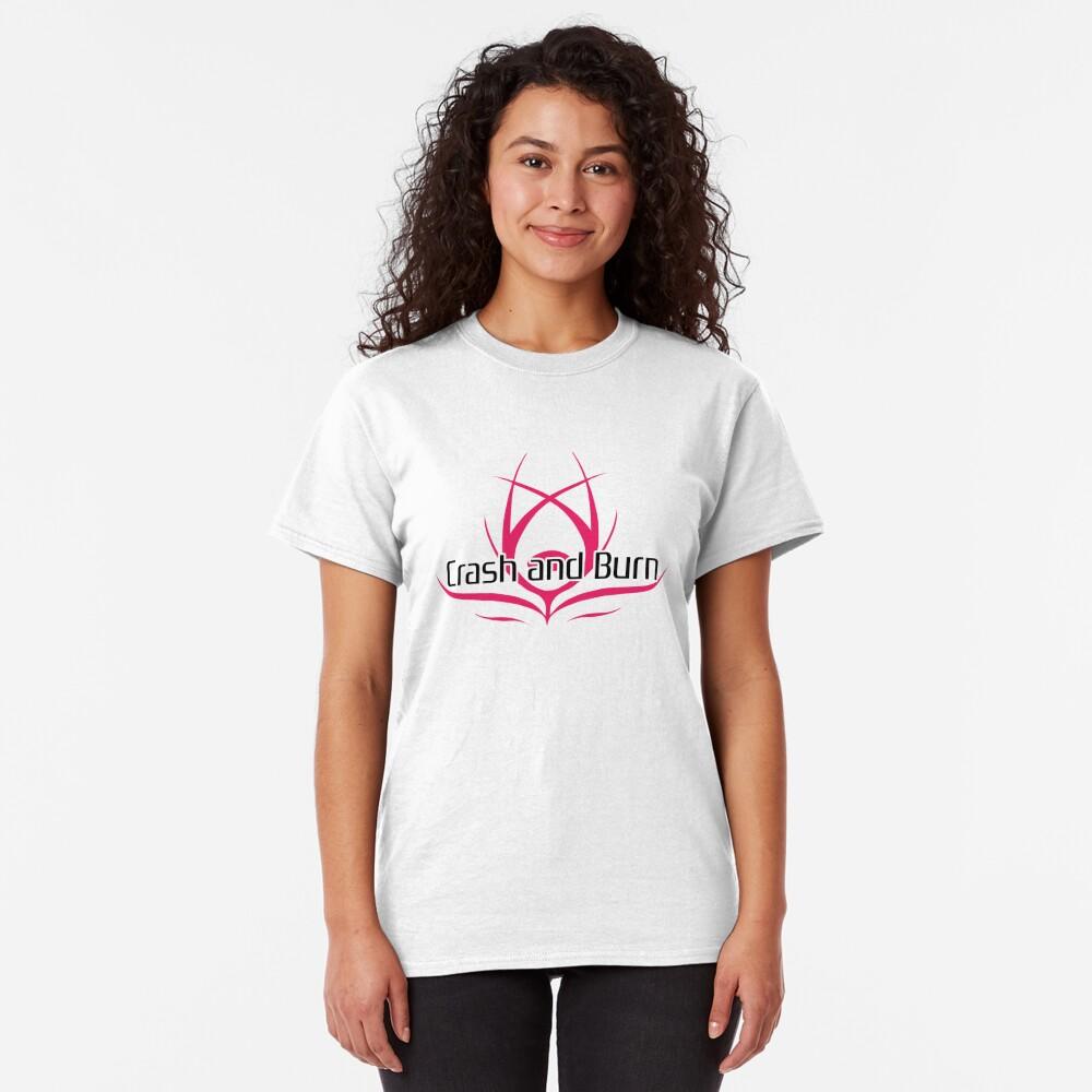 Crash and Burn Logo with Text Classic T-Shirt
