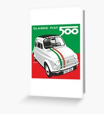 Fiat 500 Italian flag Greeting Card