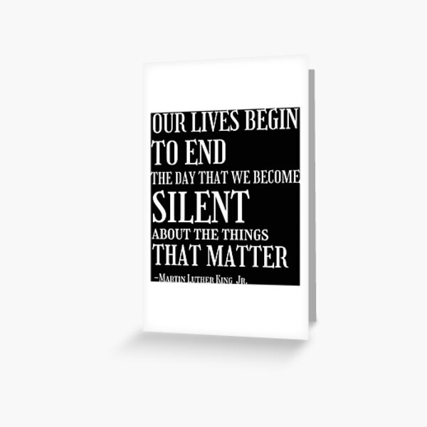 Martin Luther King Jr Quotes  Greeting Card
