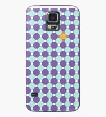 Purple & Orange Tessellation Tiles Case/Skin for Samsung Galaxy