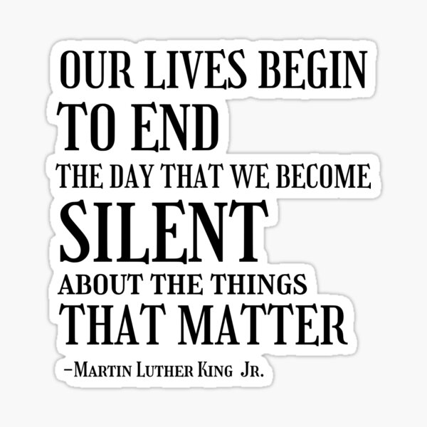 Martin Luther King Jr Quotes  Sticker