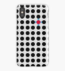 Grey & Red Tiling Tessellation iPhone Case