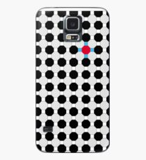Grey & Red Tiling Tessellation Case/Skin for Samsung Galaxy
