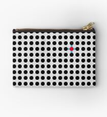 Grey & Red Tiling Tessellation Studio Pouch