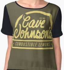 cave johnson's combustible lemons Women's Chiffon Top