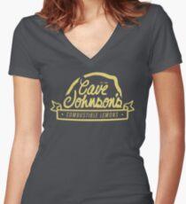 cave johnson's combustible lemons Women's Fitted V-Neck T-Shirt