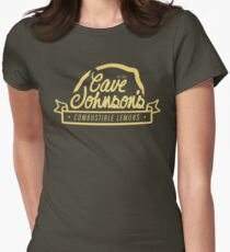 cave johnson's combustible lemons Women's Fitted T-Shirt