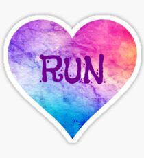Love to Run Sticker