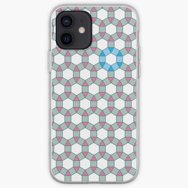 Tiling Tessellation In Green, Blue & Pink iPhone Soft Case