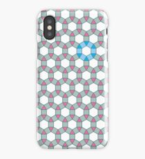Tiling Tessellation In Green, Blue & Pink iPhone Case