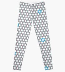 Tiling Tessellation In Green, Blue & Pink Leggings