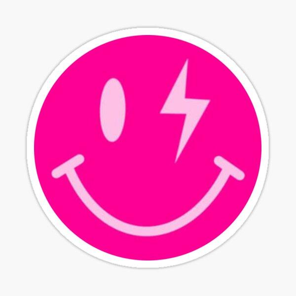Lightning Bolt Smiley Face Sticker
