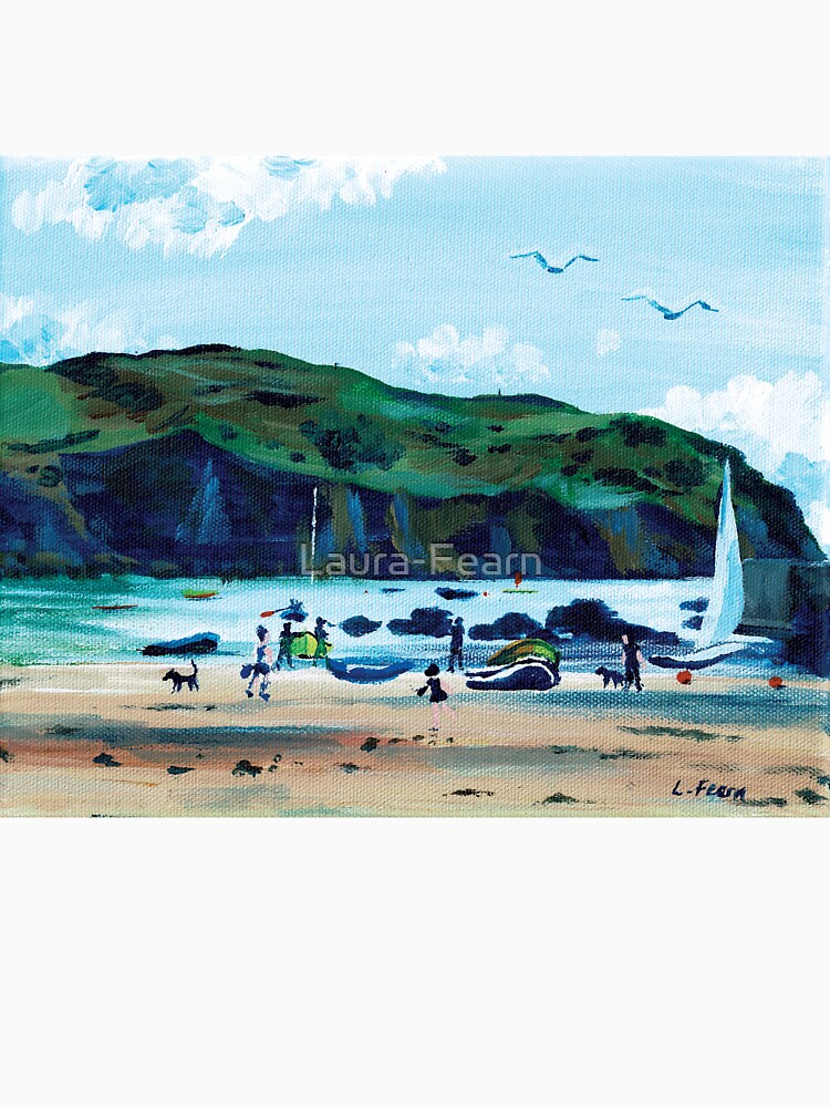 Looking from Hope Cove to Bolberry Down, Kingsbridge, Devon by Laura-Fearn
