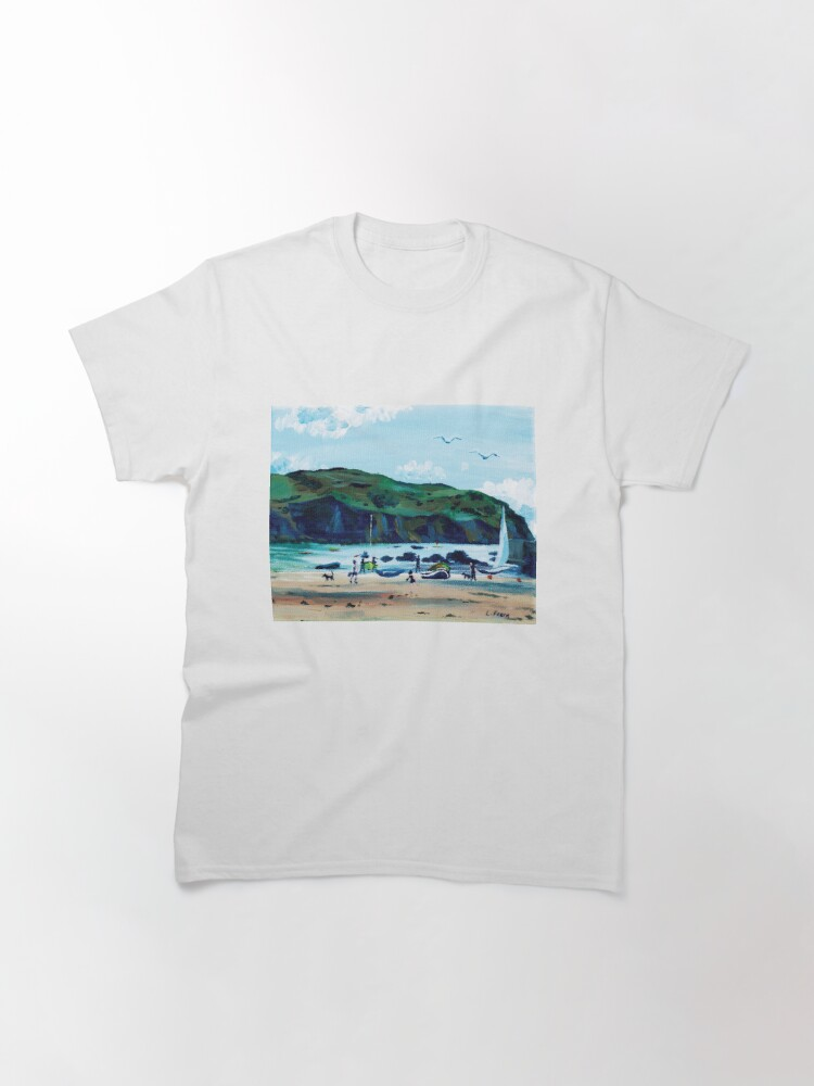 Alternate view of Looking from Hope Cove to Bolberry Down, Kingsbridge, Devon Classic T-Shirt