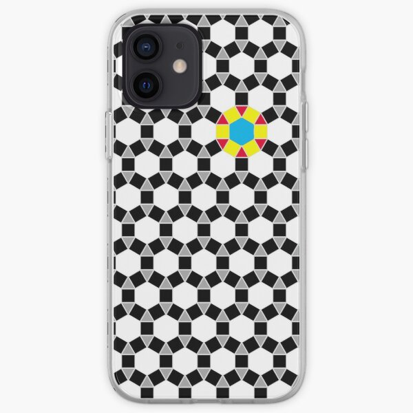 Black & White Tessellation Pattern iPhone Soft Case