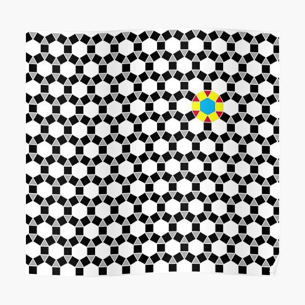 Black & White Tessellation Pattern Poster
