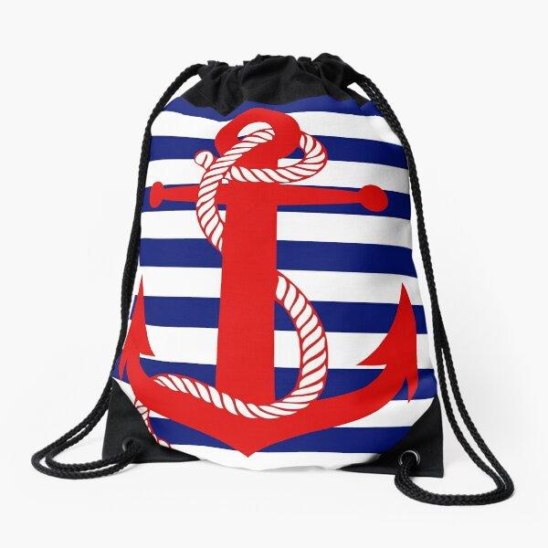 Ahoy! (blue) Drawstring Bag