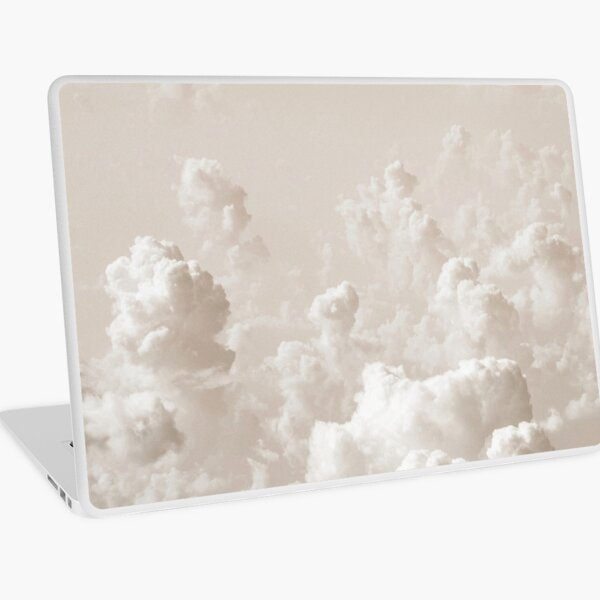 Light Academia Aesthetic white clouds Laptop Skin