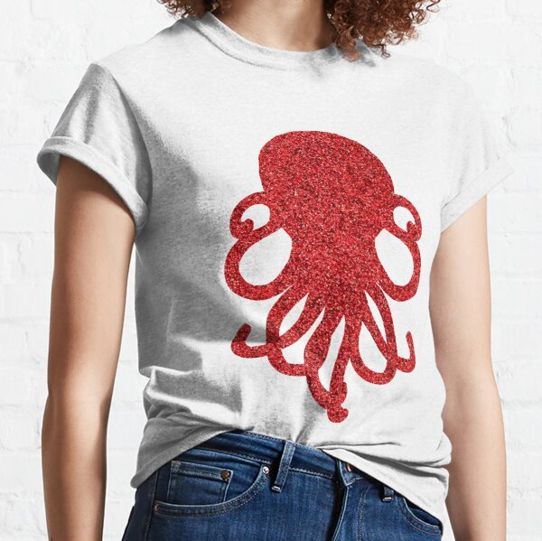 Red Glitterpus Classic T-Shirt