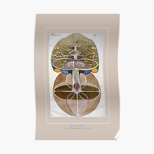 Enhanced. Hilma af Klint Painting, Tree of Knowledge, No.1 (1913), Light Poster
