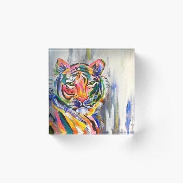 colorful tiger Acrylic Block