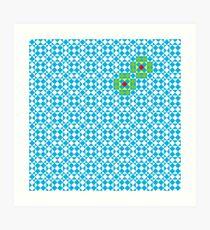 Tessellation tiling pattern in blue Art Print
