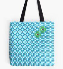Tessellation tiling pattern in blue Tote Bag