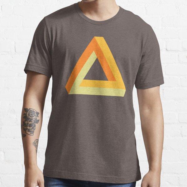 Penrose triangle orange gold yellow on black Essential T-Shirt