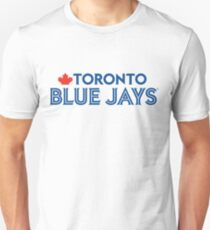 Toronto Blue Jays Wordmark with Canada maple leaf Unisex T-Shirt