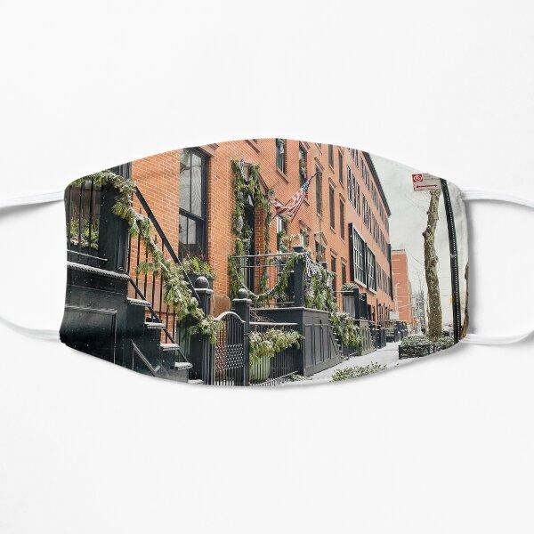 Snow Days in Brooklyn NY Flat Mask