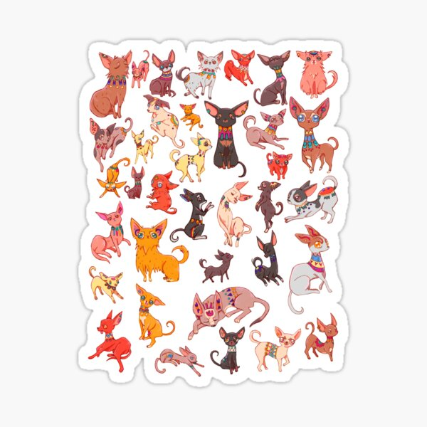 Ancient Chihuahuas Sticker