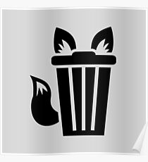 Furry Trash Icon Poster