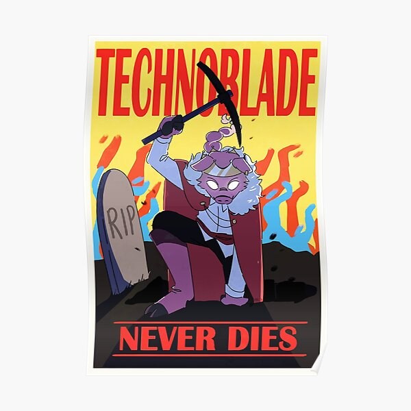 technoblade never dies games Poster