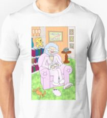 cancer woman relaxing at home with a cuppa T-Shirt