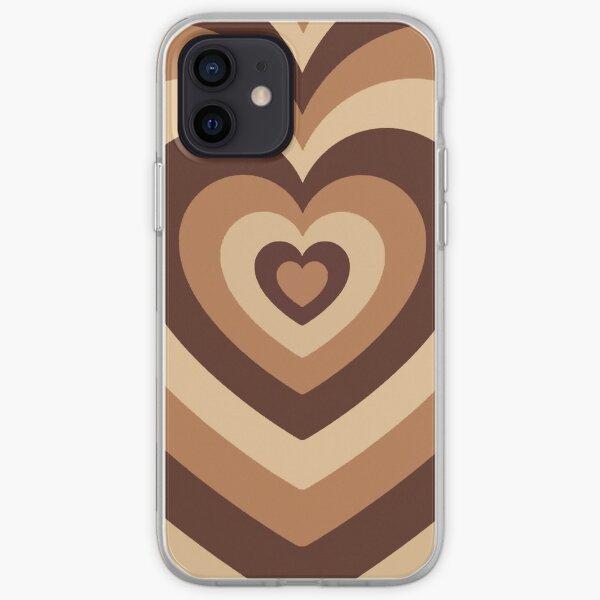 latte love brown hearts phone case iPhone Soft Case