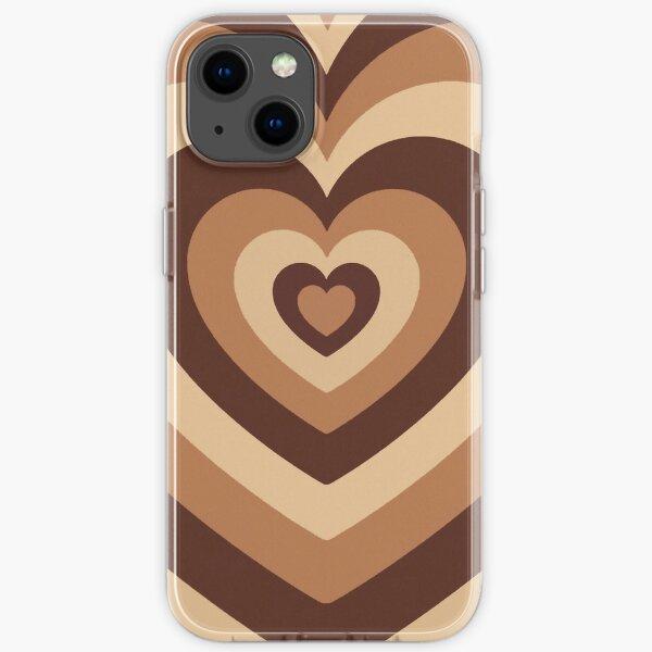 Latte Liebe braune Herzen Telefon Fall iPhone Flexible Hülle