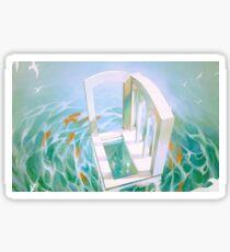 diver's abode. Sticker
