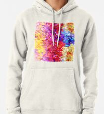 Metallic Colorful Sequins Look-Disco BallGlitterPattern  Pullover Hoodie
