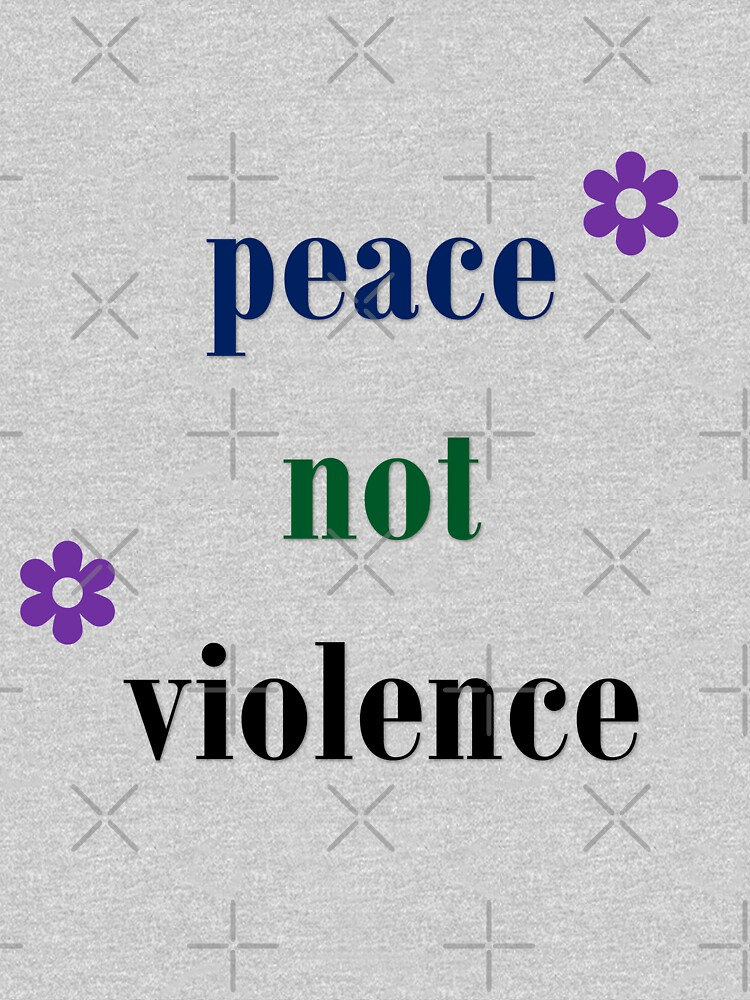 Quote-Peace not Violence- Riots in U.S Jan 6, 2021 by Veee8