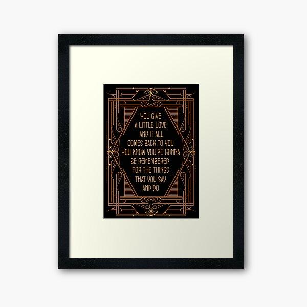 Give a Little Love - Bugsy Framed Art Print