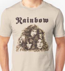 Camiseta unisex Long Live Rock and Roll Rainbow