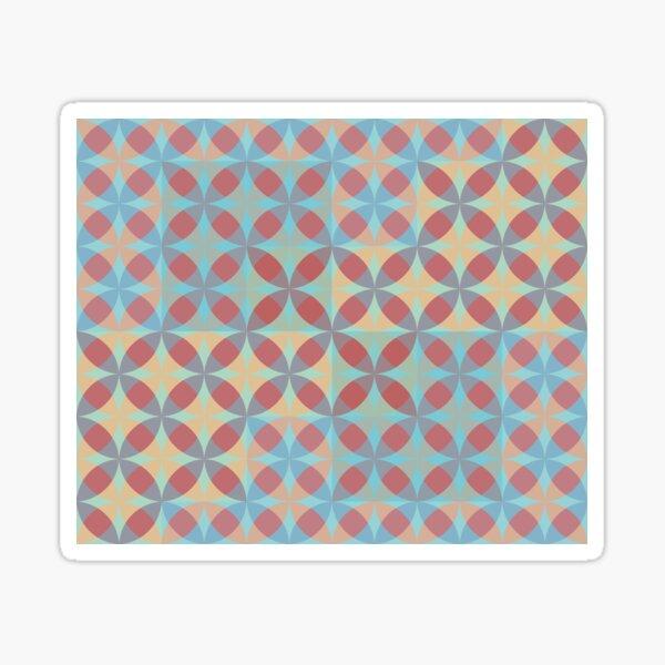 Geometric and Funky blueish pattern Sticker