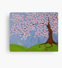 Butterfly Cherry Blossom Canvas Print