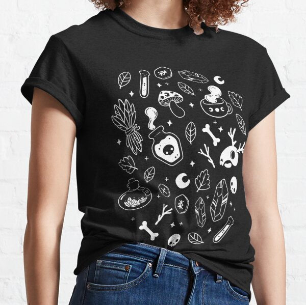 Witchy Ingredients // Black & White   Nikury Classic T-Shirt