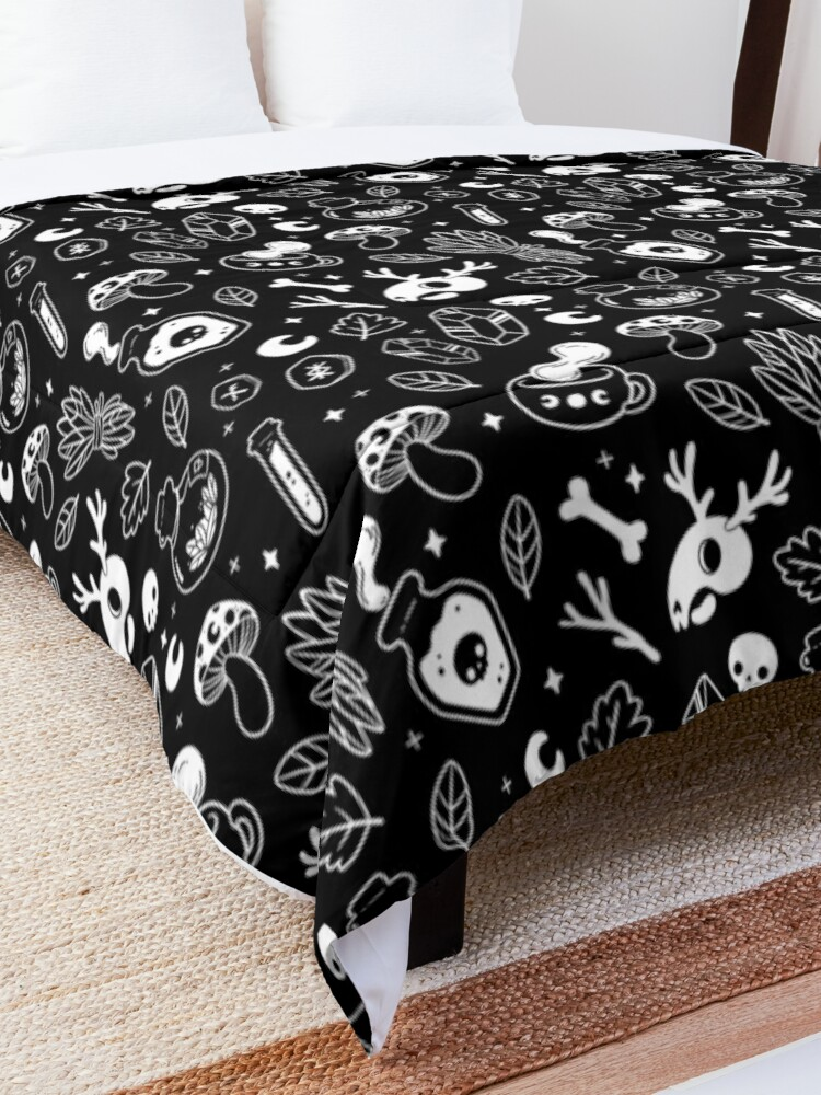 Alternate view of Witchy Ingredients // Black & White | Nikury Comforter