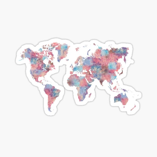 Wanderlust World Map Sticker