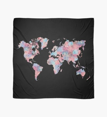Wanderlust World Map Scarf