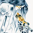Giraffe Totem by Michelle Tracey